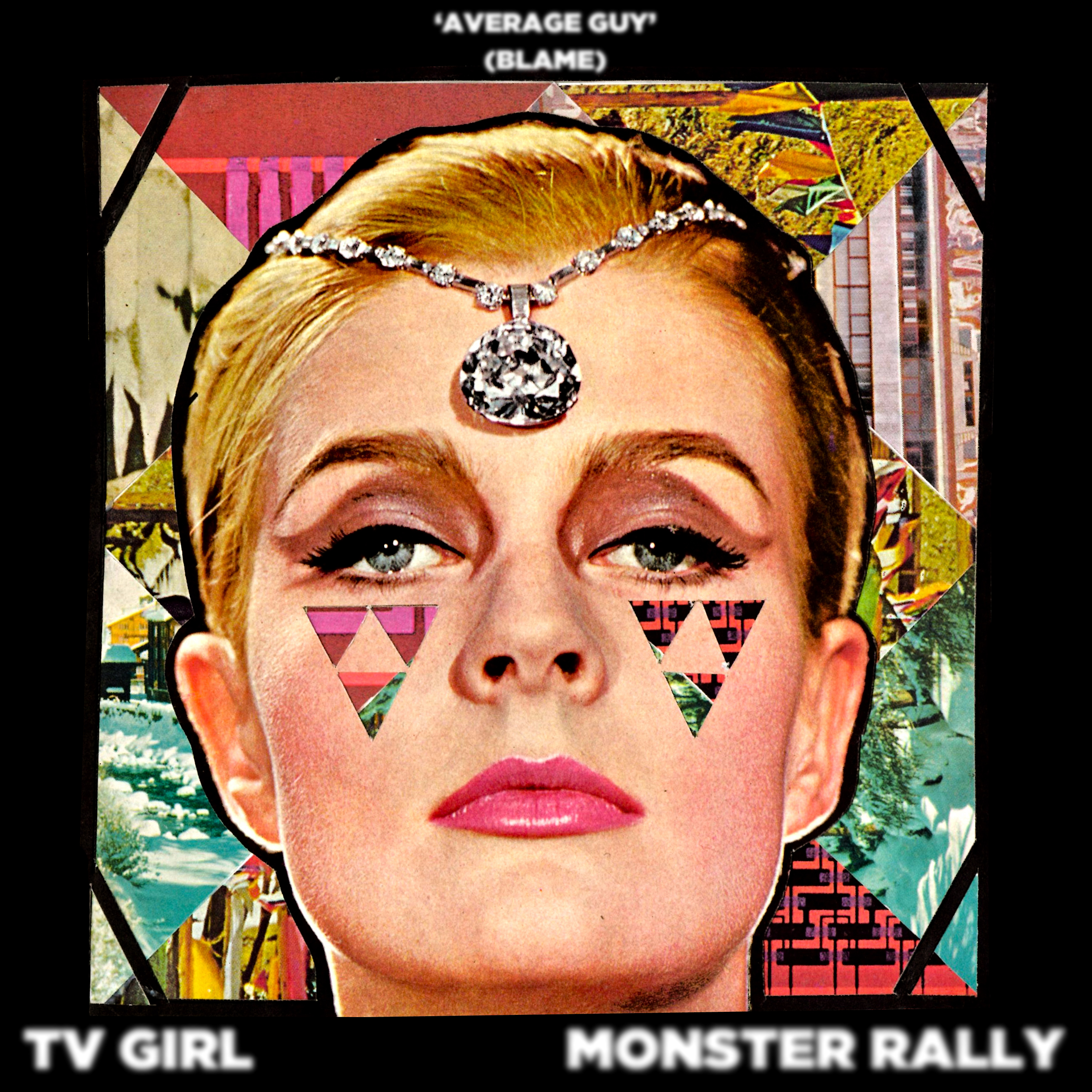 "TV Girl & Monster Rally ""Average Guy (Blame)"" Art"